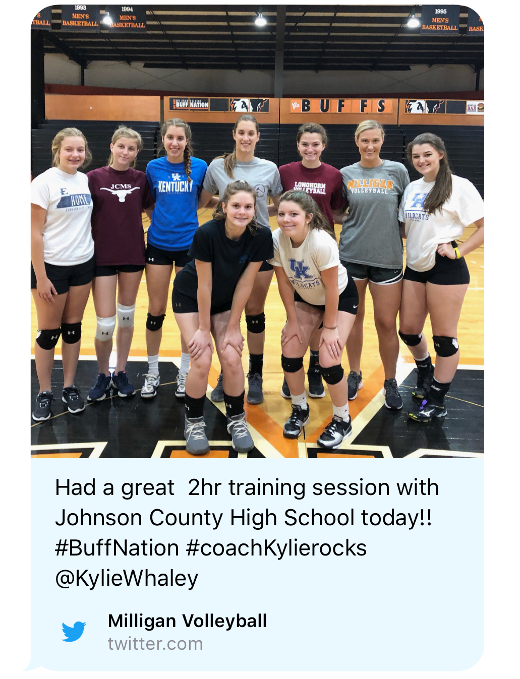 Volleyball Camp at Milligan